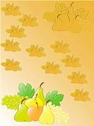 autumn fruits stillife. vector