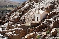 Chapel Ermita de Nuestra Senora de la Pena in Barranco de las Penitas near Vega de Rio Palmas, Fuerteventura , Canary Islands