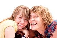 Portrait of smiling young beauty couple 7