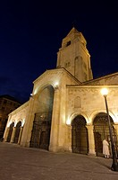 Church of San Pedro at night, Gijon, Asturias, Spain
