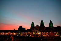 Angkor Wat Temple at Sunset