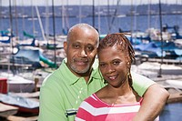 Portrait of couple at marina