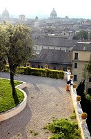 The beautiful view from the Capitoline Hill Rome Italy