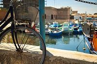 Port of Favignana island near Sicily