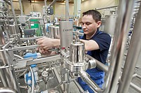 Final assembly of a bottling plant in the plant of the Krones AG company, Neutraubling, Bavaria, Germany, Europe