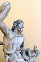 "Statue found in the Regional Archaeological Museum ""Antonio Salinas"" Palermo Sicily Italy"