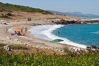 Bay near Acharavi, north east Corfu, Corfu Island, Ionian Islands, Greece, Southern Europe, Europe