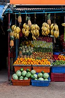 Fresh fruit in Indian vegetable market