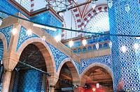 Turkey, Istanbul, Rustem Pasa Mosque, decorated with Iznik Tiles
