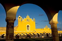 San Antonio de Padua convent in Izamal village on Mexico's Yucatan peninsula, June 27, 2009