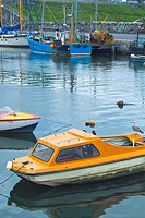 Small fishing vessels in Balbriggan Harbour, Co  Dublin, Ireland