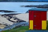 Lifeguard hut at the Coral Beach, Carraroe, Connemara, Co  Galway, Ireland