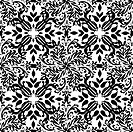 gothic mono floral