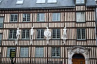 Traditional Facade in Rouen, Normandy, France