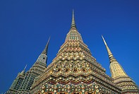 Thailand, Bangkok. Chedis of the Four Kings, Wat Phra Chetuphon AKA Wat Po