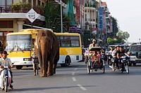 Street scene, Phnom Penh, Cambodia, Southeast Asia
