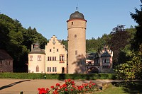 Schloss Mespelbrunn Castle, Spessart, Lower Franconia, Franconia, Bavaria, Germany, Europe