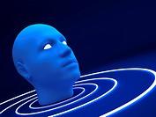 3d blue head 3d blue head