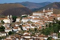 Brazil, Minas Gerais, Ouro Preto, general view,