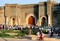 Morocco, Meknes, Bab Mansour Gate,