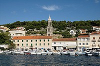 Croatia, Hvar island, Hvar  Harbour
