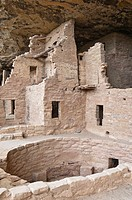 Spruce Tree House, a cliff dwelling of the Ancestral Puebloans American Indians, about 1250 years old, Mesa Verde National Park, UNESCO World Heritage...