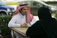 Arab Couple on a coffee break