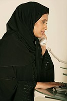 Arab lady on the Phone