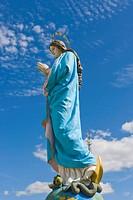 Virgin Mary Statue, Kraslavas Sveta Ludviga Romas katolu baznica, Kraslava St Ludvig Roman Catholic Church, Baznicas iela Street, Kraslava, Latgale, L...