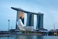 Singapore City, Marina Bay Sands, Hotel Marina Bay.