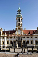 Pilgrimage church of the Sanctuary of Loreto, Hradcany, Prague, Bohemia, Czech Republic, Europe
