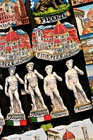 Souvenirs fridge magnets. Florence, capital of Tuscany region. Italy