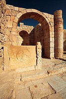 Israel  Negev Desert  Avdat  Ruins of the most important after Petra city on the Incense Route  Founded in the VII BCE  Now a UNESCO World Heritage Si...