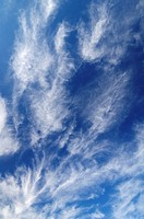 view of a peculiar white clouds with blue sky