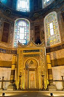 Mihrab a niche chambre indicating the direction of Mecca Hagia Sophia Istanbul Tukey
