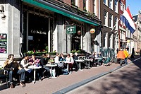 Street cafe, Amsterdam, Holland, Netherlands, Europe