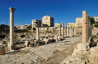 Antique archeological site of Tyros, Tyre, Sour, Unesco World Heritage Site, Lebanon, Middle East, West Asia