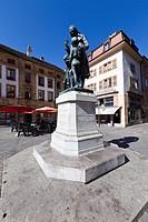 Pestalozzi Monument, Yverdon-les-Bains, Lac Du Neuchâtel, Lake Neuchâtel, Vaud Mittelland, Switzerland, Europe
