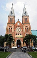 The neo-Romanesque Notre Dame Cathedral, Ho Chi Minh City, Saigon, southern Vietnam, Vietnam, Southeast Asia, Asia