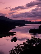 View from Queen´s View on Loch Tummel, Tayside Region, Scotland, United Kingdom, Europe