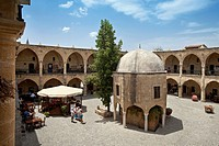 Buyuk Han, former caravanserai, North Nicosia or Lefkosia, northern Cyprus, Turkish Cyprus, South Europe