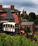 Castle Hill Funicular Railway connecting High Town to Low Town, Bridgnorth, Shropshire, England