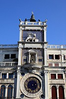 Torre dell'Orologio (clocktower) in Venice, Veneto, Italy