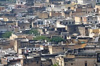 Africa, architecture, houses, homes, Morocco, satellite bowls, residential buildings
