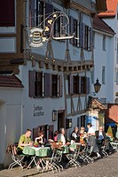 Guild hall of the sailors in the fisherman and tanner district, today a restaurant, Fischerviertel district, Ulm, Baden-Wuerttemberg, Germany, Europe