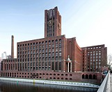 Ullsteinhaus Berlin, the former headquarters of the Ullstein publishing house, expressionism, offices and convention center, Tempelhof, Berlin, German...