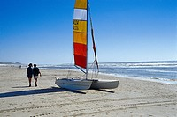 Catamaran on the beach, Bergen aan Zee, Netherlands