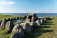 Harhoog Megalithic Grave in Keitum, Sylt Municipality, Sylt, Schleswig_Holstein, Germany