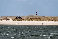 Elbow peninsula and List East lighthouse, Sylt, Schleswig_Holstein, Germany