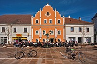 Old house, Tullner Hauptplatz square, Tulln, Lower Austria, Austria, Europe